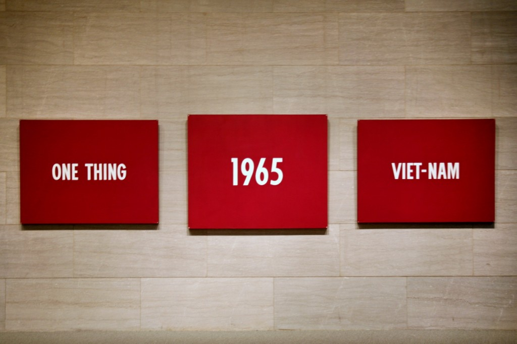 On Kawara  © Title, liquitex on canvas, 1965
