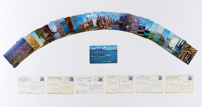 On Kawara  © I GOT UP, 47 photomechanical reproductions (postcards); Each 8.3 x 14 cm, 1970