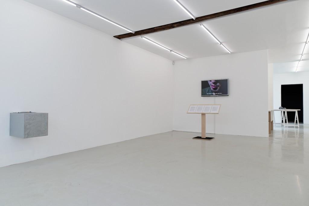 Meiro Koizumi, Vue de l'exposition Theory on the desk, Fondation Kadist, 2014.