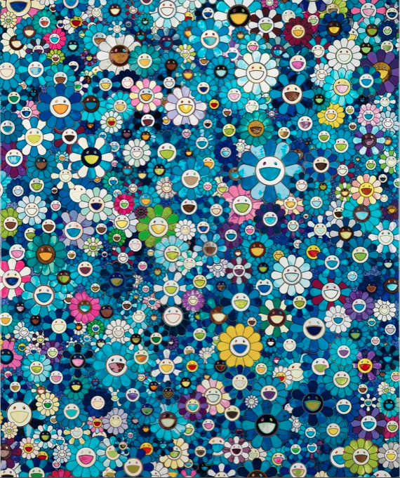 Takashi Murakami © An homage to IKB, 1957, 2012