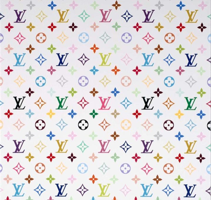 Takashi Murakami © Monogram multicolore - white, 2007