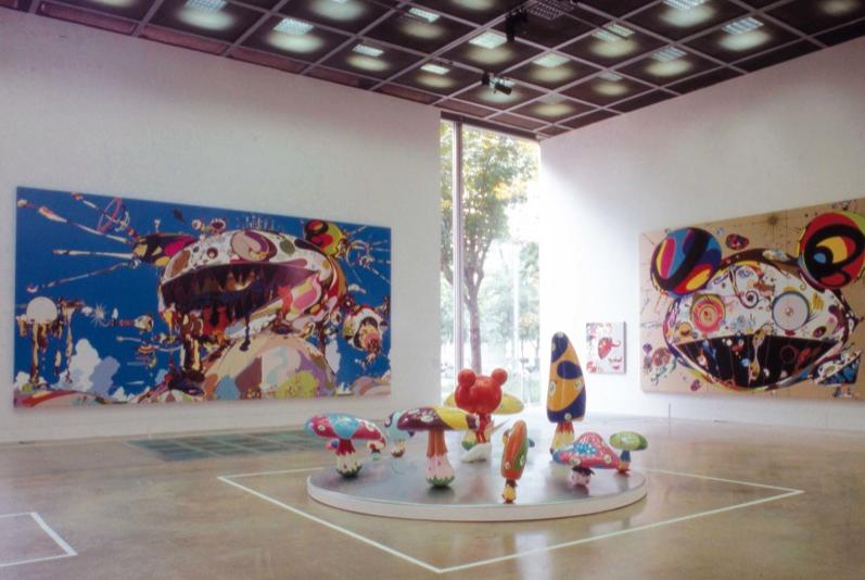 Vue de l'exposition à la Fondation Cartier, 2002
