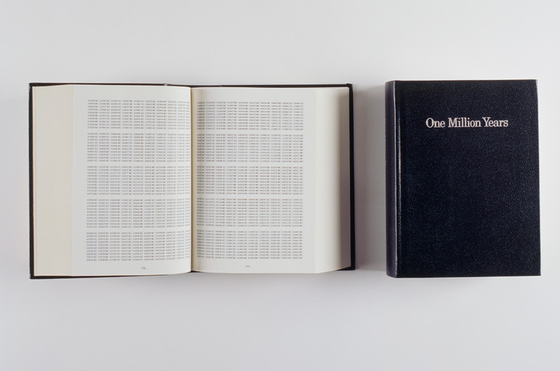 On Kawara © One Million Years Past For all Those who Have Lived and Died Future For the Last One, 1999