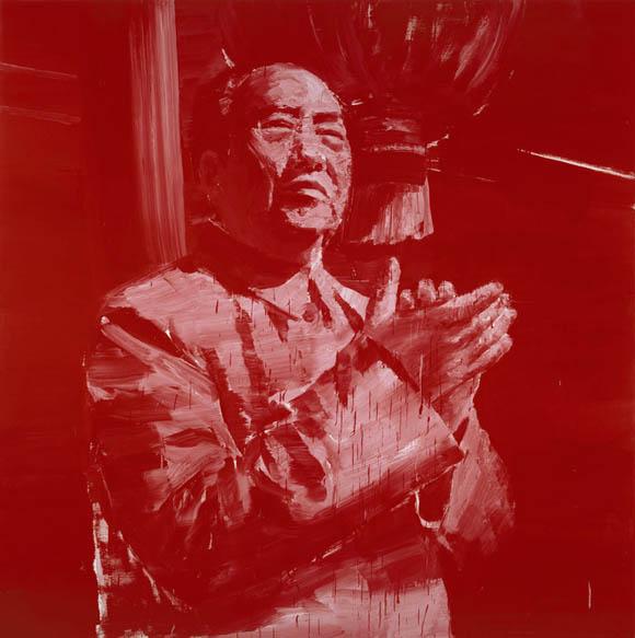 Yan Pei-Ming © Mao au balcon, huile sur toile, 2000, photographie : André Morin