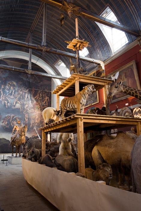 Arche, 2009. Vue de l'exposition «Arche 2009», à la Chapelle des Petits-Augustins, Ecole nationale supérieure des beaux-arts, Paris, 2009 © ADAPGHuang Yong Ping Photo. Marc Domage