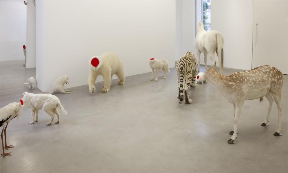 "Bugarach, 2012. Vue de l'exposition ""Bugarach"", kamel mennour, Paris, 2012 © ADAGP Huang Yong Ping Photo. Fabrice Seixas"