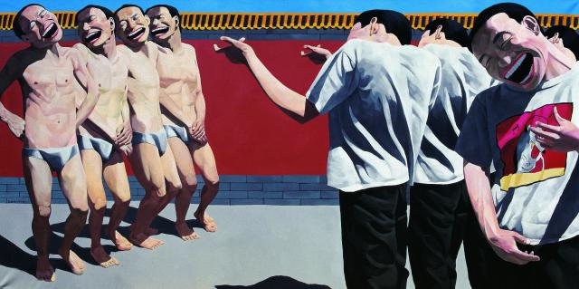 Yue Minjun © The Execution, huile sur toile, 1995, collection privée