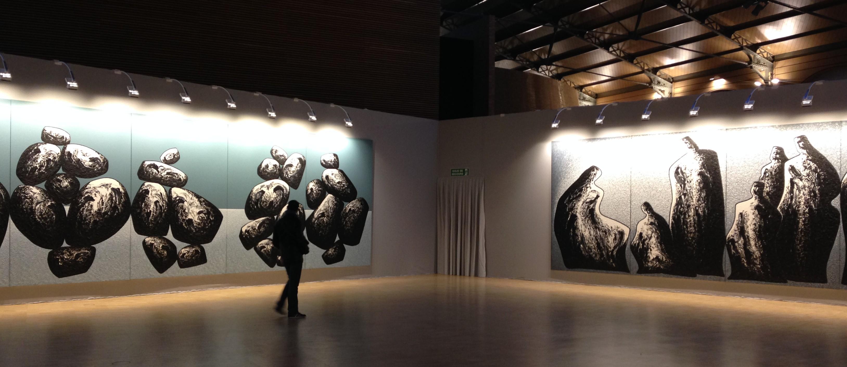 Vue de l'exposition Ma Desheng au Carreau du Temple, 2015. © Lou Anmella