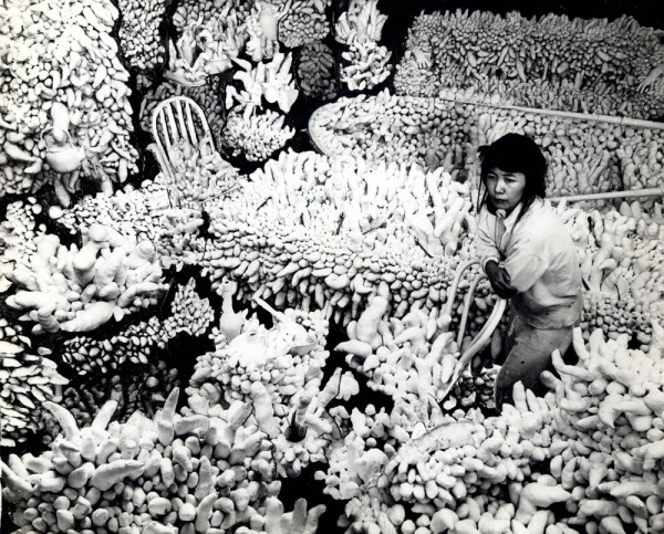 Yayoi Kusama with Compulsion Furniture, 1964