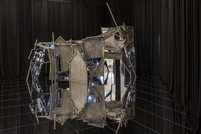 Lee Bul ©Souterrain, 2012 plywood on wooden frame, acrylic, mirror, alkyd paint 107.87 x 141.73 x 188.98 inches 274 x 360 x 480 cm