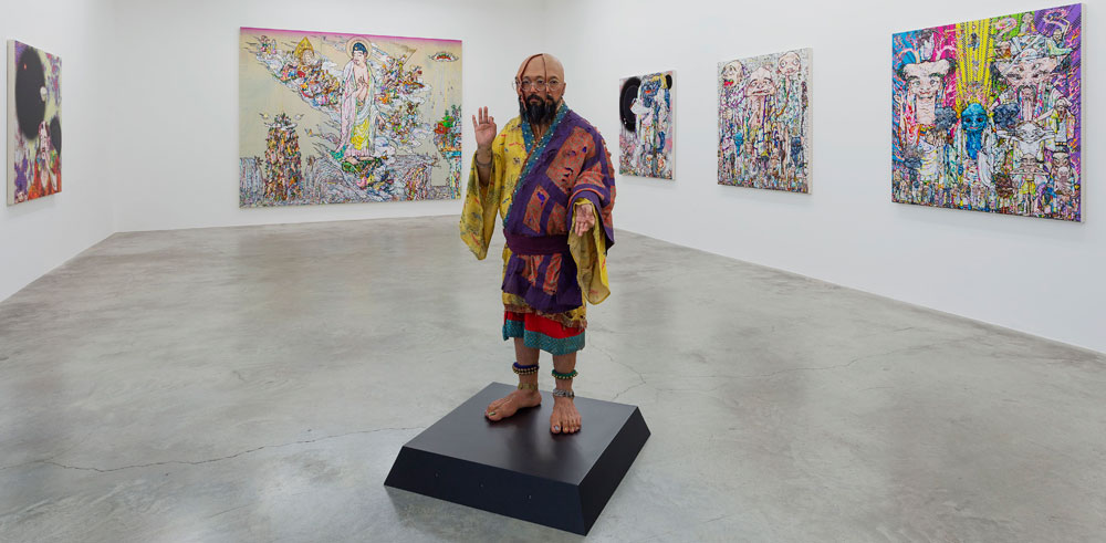 "Vue de l'exposition Takashi Murakami ""Learning the Magic of Painting"" à la Galerie Perrotin. Photo : Clair Dorn. All artworks © Takashi Murakami/Kaikai Kiki Co., Ltd. All Rights Reserved. Courtesy Galerie Perrotin"